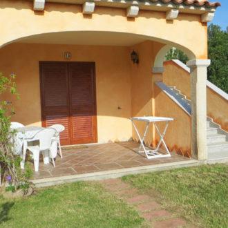 La veranda di una delle camere dell'hotel