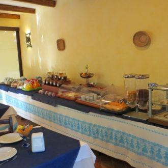 Un angolo della sala colazioni