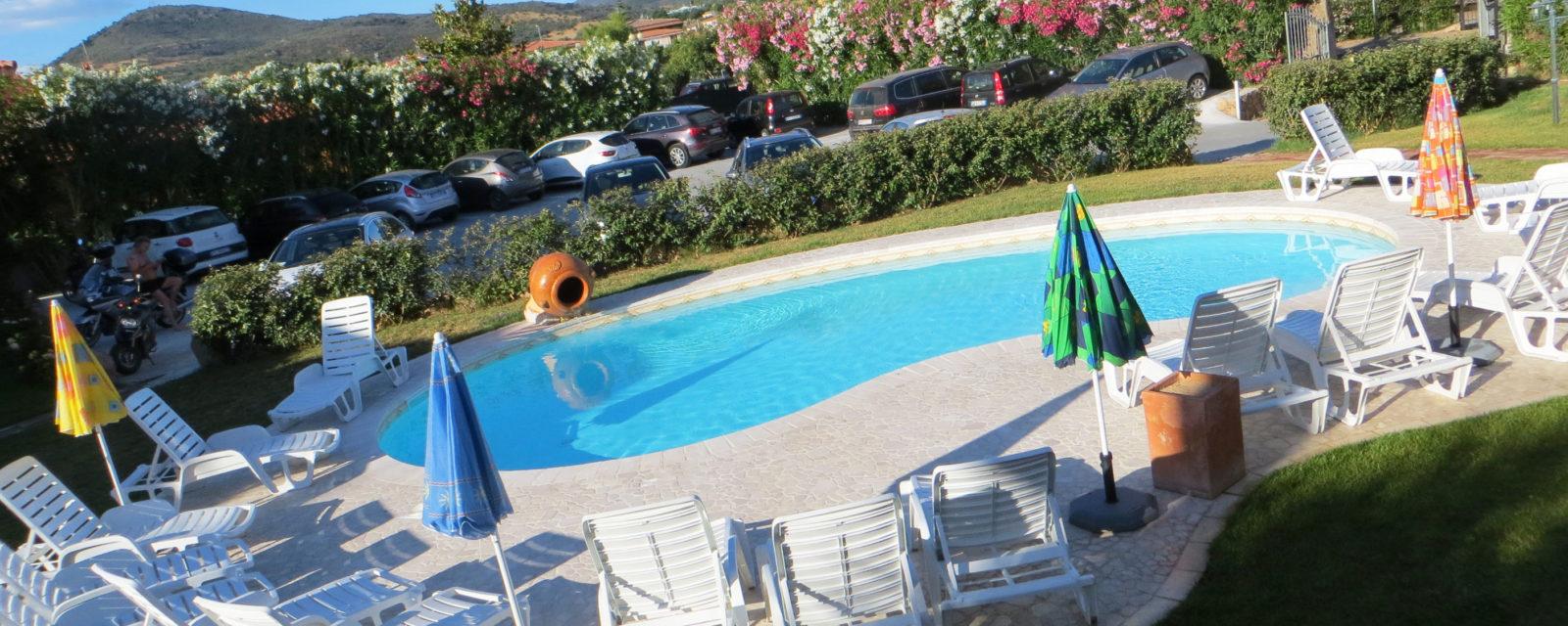 La piscina dell'Hotel a San Teodoro Sardegna